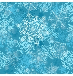Christmas seamless pattern on turquoise vector