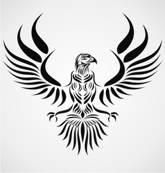 Tribal eagle bird vector