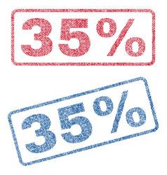 35 percent textile stamps vector