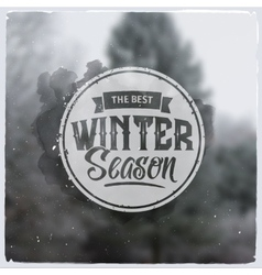Creative graphic message for winter design vector