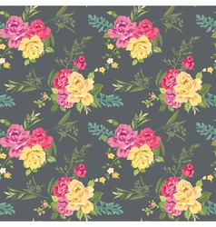 Flower background with roses vector