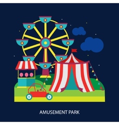 Kids circus fun fair vector