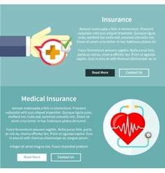 Medical and health insurance vector