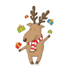 Cartoon cute deer vector