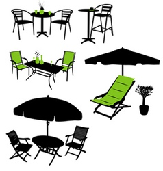 Furniture silhouettes vector
