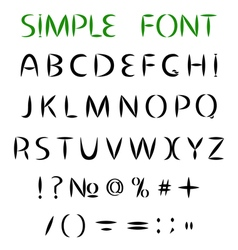 Simple font uppercase letters with sharp ends vector