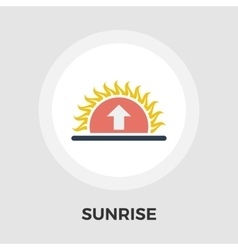 Sunrise flat icon vector
