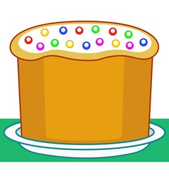 Easter sweet cake vector