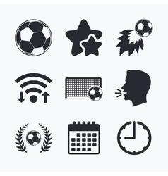Football icons soccer ball sport vector