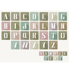 ABC Letters Flat Design Style vector image vector image