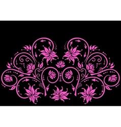 Abstract pink floral ornament vector image