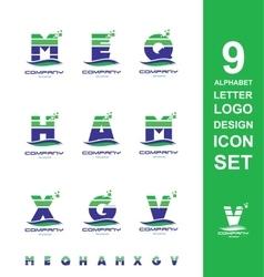Alphabet logo icon letter set vector