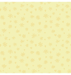 beige silhouette of camomile and heart vector image