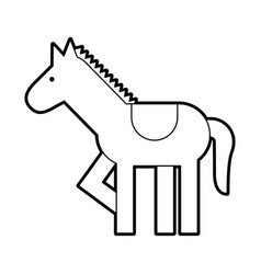 carousel horse isolated icon vector image