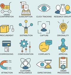 Customer relationship management - part 8 vector