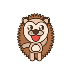 Cute porcupine toy kawaii image vector