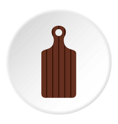 Cutting board icon flat style vector
