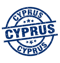 Cyprus blue round grunge stamp vector