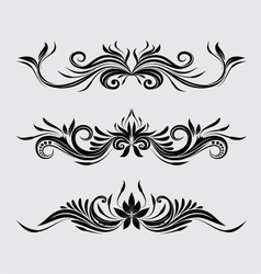 Decorative swirl ornamental vector