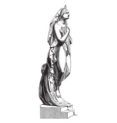 Female sculpture was sculpted by milanese vector