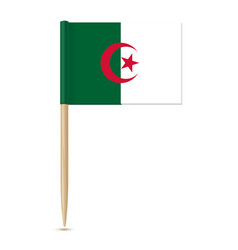 Flag of algeria toothpick on white background vector