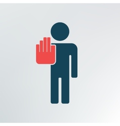 hand stop sign vector image vector image