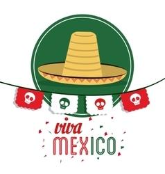 Hat icon mexico culture graphic vector