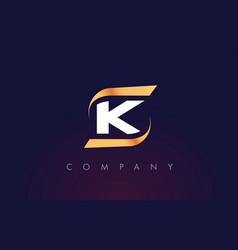 k letter logo design modern letter template vector image vector image