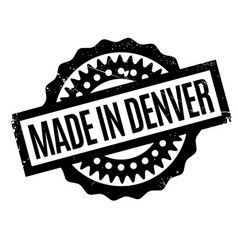 Made in denver rubber stamp vector
