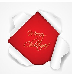 Merry Christmas Red Torn vector image vector image