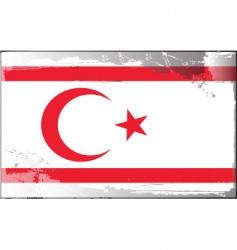 northern Cyprus national flag vector image