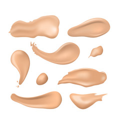 realistic detailed 3d cosmetic concealer strokes vector image
