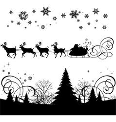Santas sleigh vector