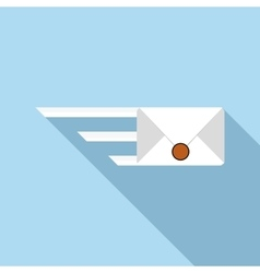 Sending a message icon flat style vector