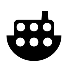 ship boat toy isolated icon vector image