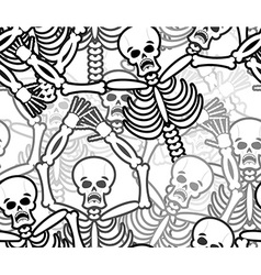 Sinners seamless pattern Skeleton in Hell vector image vector image