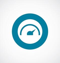 Speedometer icon bold blue circle border vector