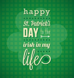 St Patricks Day Card and Wallpaper vector image vector image