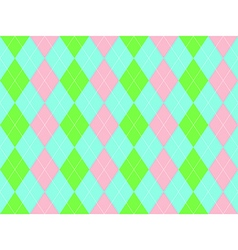 Sweet colors fabric texture argyle seamless vector image vector image