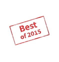The best of last year 2015 vector image vector image