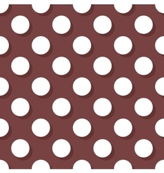 Tile pattern with white polka dots on brown vector image