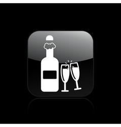 toast icon vector image vector image