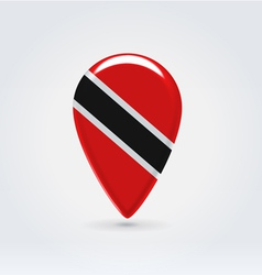 TrinidadTobago icon point for map vector image vector image