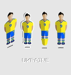 Ukraine soccer team sportswear template vector