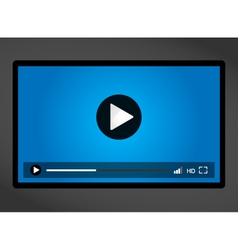 Video player for web minimalistic design vector
