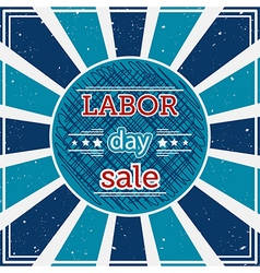 labor day sale typography poster vector image