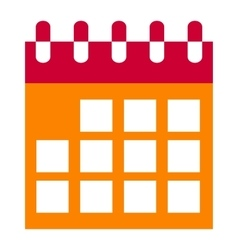 Calendar icon isolated vector