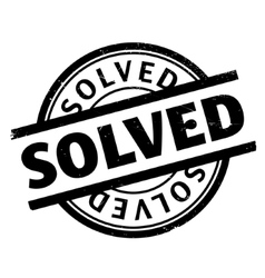 Solved rubber stamp vector