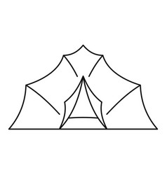 Large tent icon outline style vector
