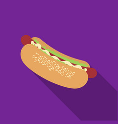 hot dog icon in flat style for web vector image